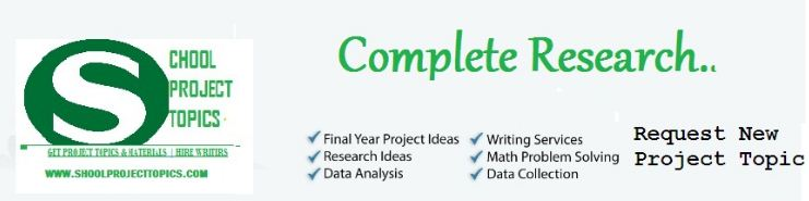 Undergraduate Research Project Topics and Materials In Pdf and Doc Format